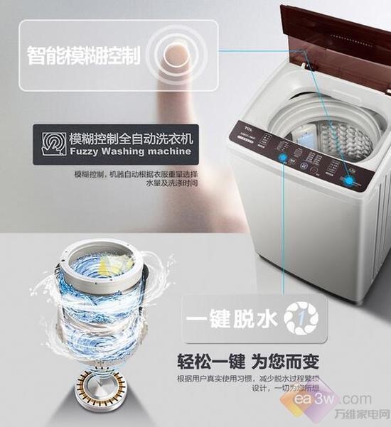 tcl xqb55-36sp洗衣机的内凸式蜂巢结构内筒规律细