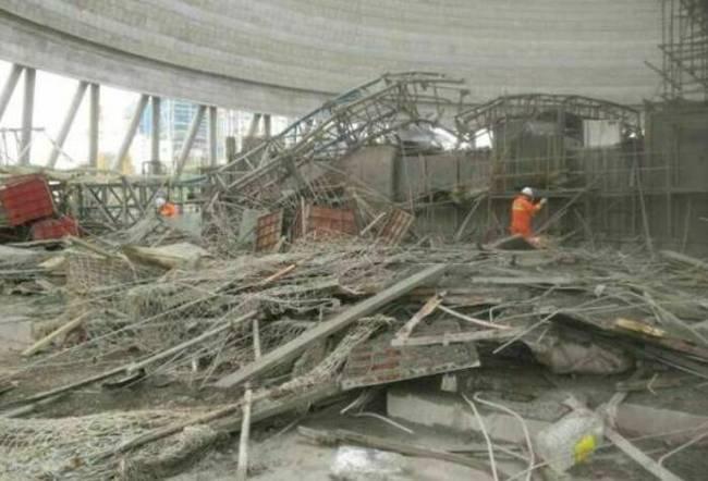 江西一电厂在建冷却塔施工平台倒塌已致22人死亡