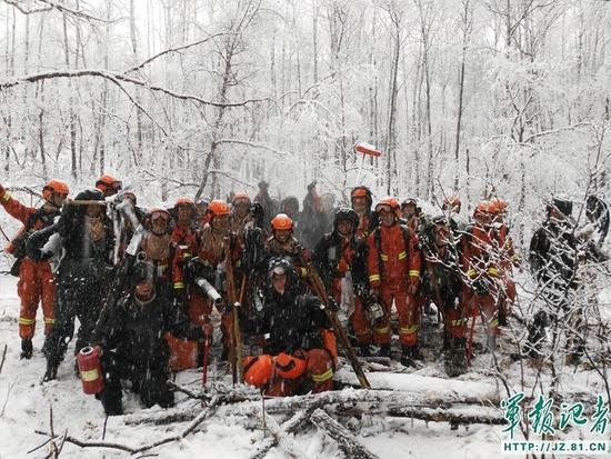 【速报】:内蒙古大兴安岭毕拉河特大森林火灾火场出现