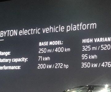"""手握""""平板电脑""""开车的概念SUV BYTON Concept正式"""