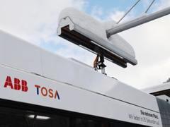 超级闪充技术充电仅需20秒 TOSA电动巴士在达沃斯正式启动运行
